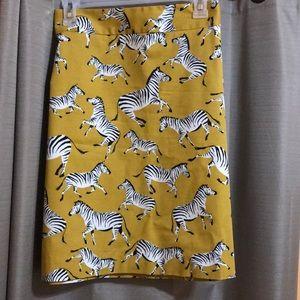 Zebra skirt by AnnTaylor